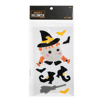 Maker's Halloween Decor 5.91''x9.84'' Gel Clings-Witch