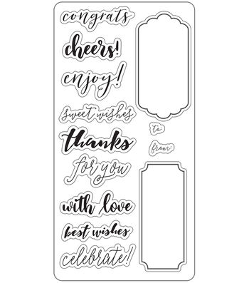 Lia Griffith Gift Tag Creator Clear Stamps