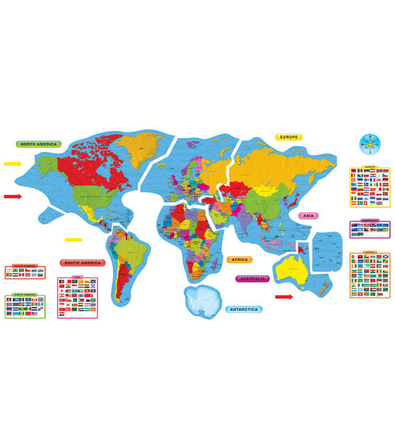 Continents & Countries Bulletin Board Set, 2 Sets, , hi-res, image 2