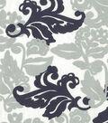 Quilter\u0027s Showcase Fabric 43\u0027\u0027-Navy & Gray Floral Leaves