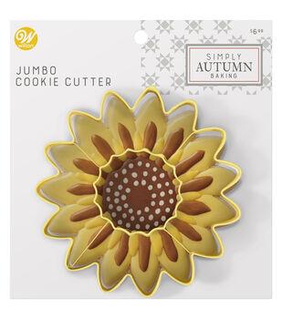 Wilton Simply Autumn Jumbo Cookie Cutter-Sunflower