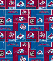 Colorado Avalanche Fleece Fabric -Block, , hi-res