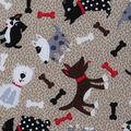Novelty Cotton Fabric-Whimsical Mixed Dog Theme