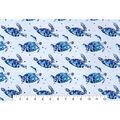 Snuggle Flannel Fabric -Blue Sea Turtle