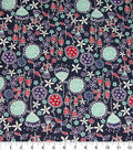 Quilter\u0027s Showcase Cotton Fabric-Floral Mix on Navy