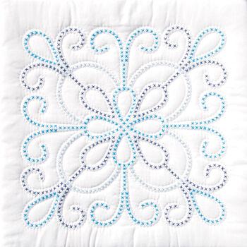 """Stamped White Quilt Blocks 18""""X18"""" 6/Pkg- Design"""