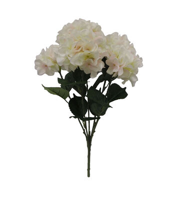Fresh Picked Spring 21.5'' Hydrangea Bush-Cream & Pink