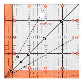 "Fiskars Square Acrylic Ruler (4.5"" x 4.5"")"