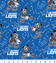 Detroit Lions Cotton Fabric-Mickey Mouses, , hi-res