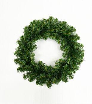 Handmade Holiday Christmas 18'' Wreath-Green
