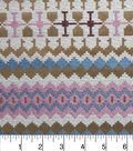 Southwest Jacquard Fabric 54\u0022-Metallic Pink and Blue