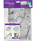 Creativity Essentials A5 Clear Background Stamp-Steampunk