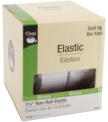"Dritz Non-Roll Elastic 3/4""-White"