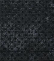 Keepsake Calico Cotton Fabric-Black Grunge Mini Dots, , hi-res