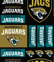 "Jacksonville Jaguars Cotton Fabric 58""-Logo Block, , hi-res"