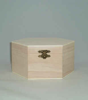 Hexagon Shaped Wood Box
