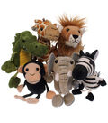 African Animals Finger Puppets, Set of 6
