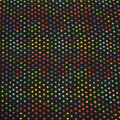 Super Snuggle Flannel Fabric-Tie Dye Paws And Hearts Black