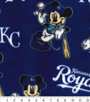 Kansas City Royals Fleece Fabric-Mickey, , hi-res