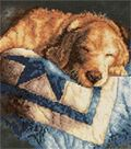 Dimensions Stamped Cross Stitch Kit Snooze