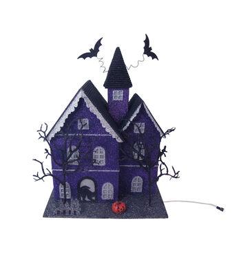 Maker's Halloween LED Haunted House-Purple