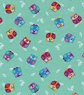 Snuggle Flannel Print Fabric 42\u0022-Winking Owls