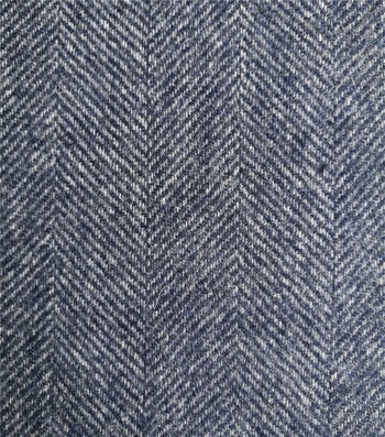 "Sportswear Reversible Herringbone Fabric 57""-Navy & Gray"