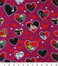 Star Wars Cotton Fabric -Valentine Hearts
