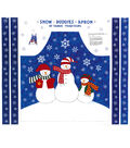 Christmas Cotton Fabric-Snow Buddies Apron Panel