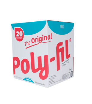 Poly-Fil Premium Polyester Fiber Fill Box 20lb