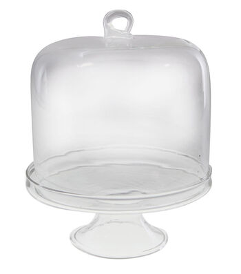 Maker's Holiday Craft Small Dome Display Glass Cake Stand