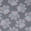 Blizzard Fleece Fabric-Pink & Mint Paw & Heart Cluster