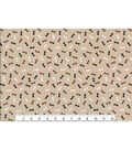 Novelty Cotton Fabric -Mini Bones Blender on Tan