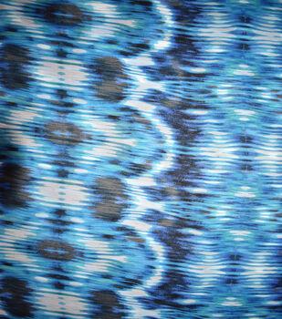 Fast Fashion Yoryu Chiffon Fabric-Lagoon Tie Dye Delta