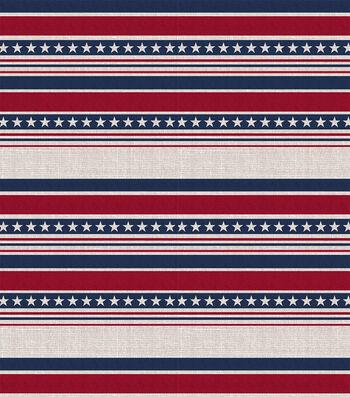 Americana Patriotic 52''x90'' Tablecloth-Stripes & Stars