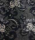 Casa Embellish Sequin Velvet Fabric 56\u0027\u0027-Black & Gold