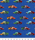 Snuggle Flannel Fabric -Speedster Cars