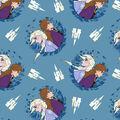 Disney Frozen Fleece Fabric-Badges