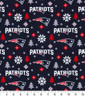 New England Patriots Christmas Flannel Fabric-Holiday