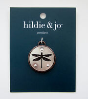 hildie & jo Dragonfly Cut Out Round Pendant, , hi-res