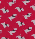 Snuggle Flannel Fabric -Scotties Tossed