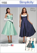 Simplicity Pattern 1155AA 10-12-14-1-Dresses