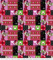 Disney Minnie Mouse Fleece Fabric-Ugly Sweater Red, , hi-res