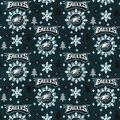 Christmas Philadelphia Eagles Flannel Fabric-Holiday