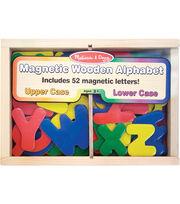 Melissa & Doug Wooden Letter Alphabet Magnet Set 52ct, , hi-res