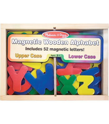 Melissa & Doug Wooden Letter Alphabet Magnet Set 52ct