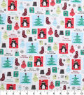 Holiday Cotton Fabric -Chrismas Icons