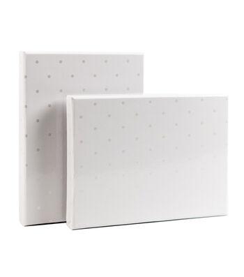 DCWV Designer Set of A6 Boxes: White Dot