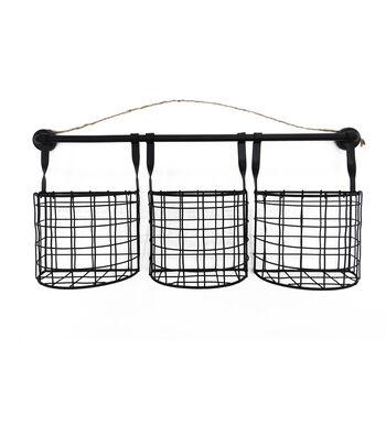 In the Garden Iron Baskets Wall Decor