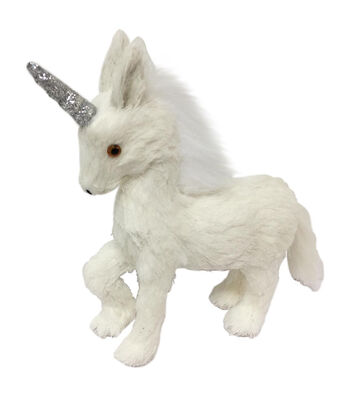 Blooming Holiday Christmas Small Unicorn Critter-White